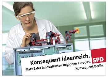 """Konsequent Ideenreich"" - SPD-Plakat 2006"