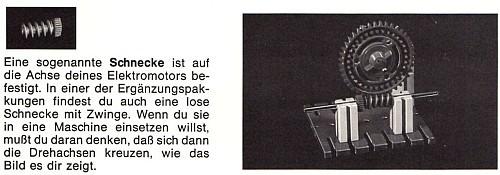 "Auszug aus dem ""fischertechnik Alphabet"" (1968)"