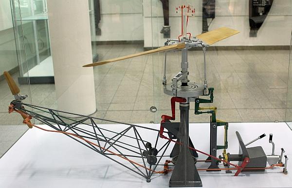 Funktionsmodell einer Taumelscheibe (Hubschrauber), Deutsches Museum München