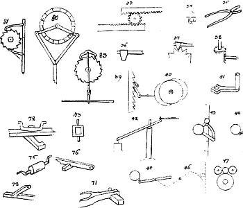 Mechanisches Alphabet von Christopher Polhem (ca. 1690)