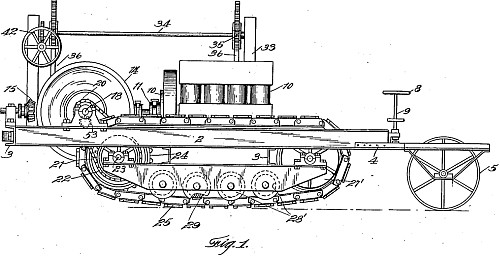 Traction Engine (Patent von Benjamin Holt, 1907)