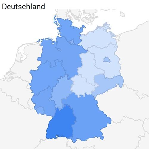 """Nutzung des Suchbegriffs """"fischertechnik"""" in Deutschland (Quelle: Google Trends)"""