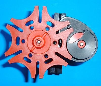 Malteser-Schaltrad aus Drehscheibe 60 mit ergänzter Segementscheibe (Foto: Andreas Tacke)