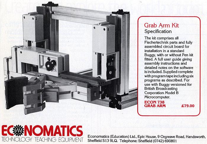 BBC Buggy Grab Arm Kit (Economatics, 79 £)