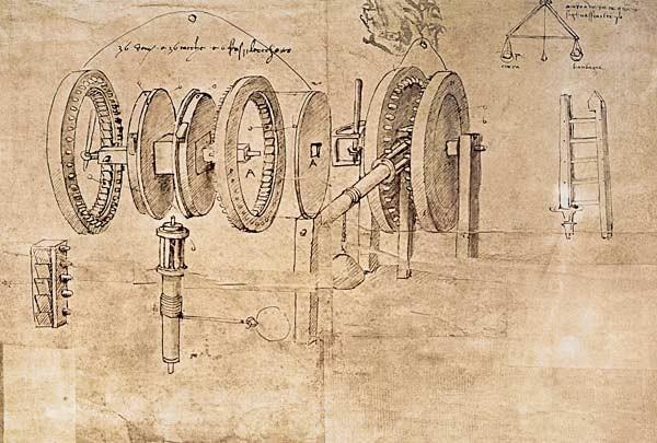 Getriebe von Leonardo da Vinci