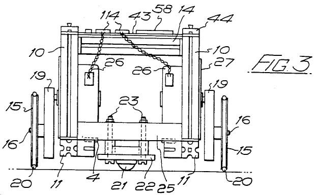 Patentzeichnung zum BBC Buggy (US-Patent No. 4.548.584, 1985)