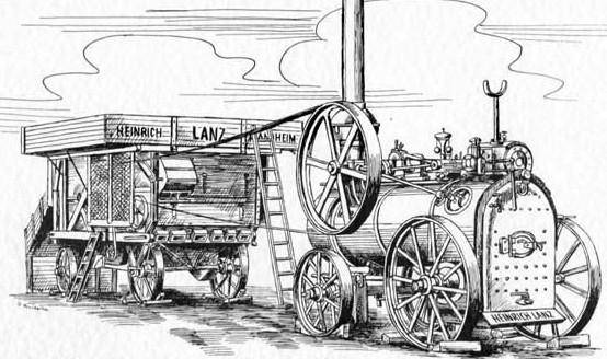 Lanz-Mähdrescher (um 1900)