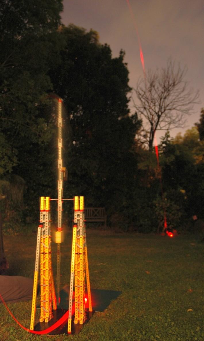 Trebuchet bei Nacht