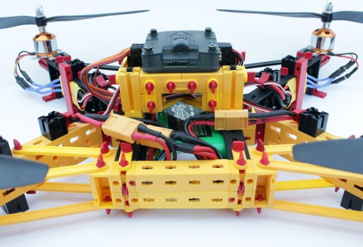 fischertechnik-Drohne (Detailansicht)