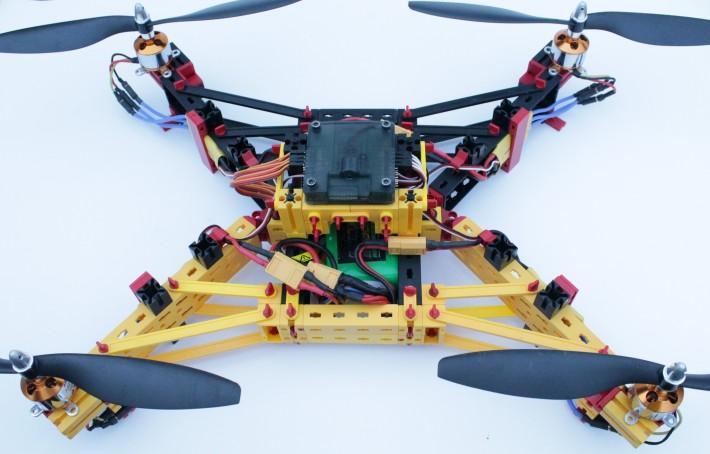 fischertechnik-Drohne (Gesamtansicht)