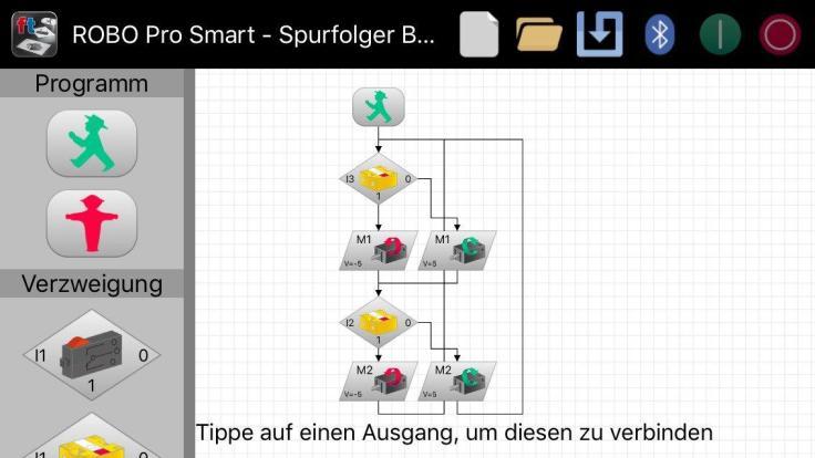 ROBOPro Smart Spurfolger-Programm