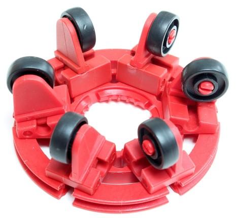 Omniwheel mit sechs V-Rädern 14