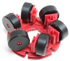 Omniwheel mit sechs V-Rädern 23